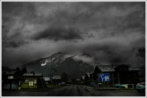 Šveices Alpu pilsētiņa