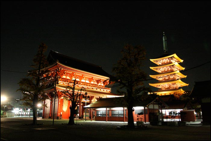 Tokijas ielas- tempļi