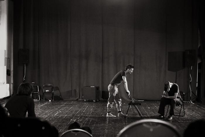 """""""Leģionāri"""" izrāde Ģertrudes ielas teātri"""