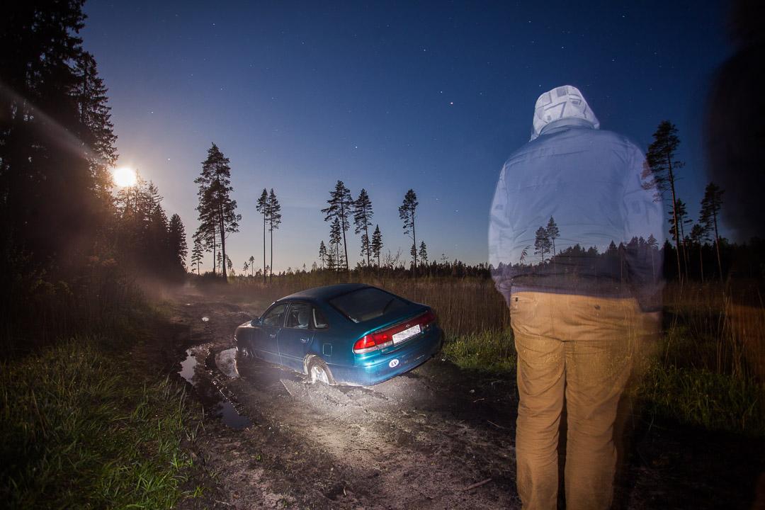 Pilnmēness nakts mežā