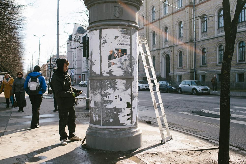 Pavasaris Rigas ielas foto Girts Ragelis