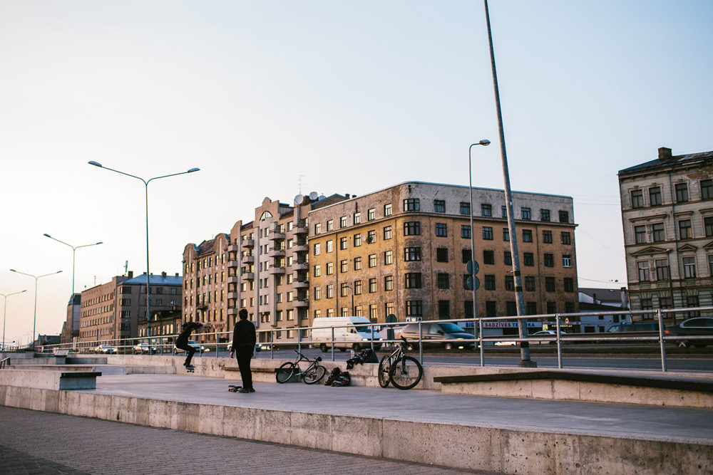 Rigas Daugavas piekraste foto Girts Ragelis