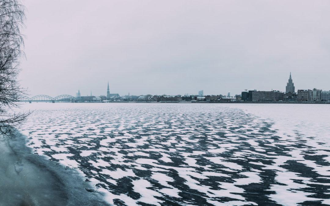 Rīga. Daugava. Janvāris