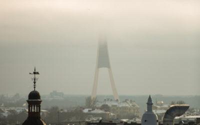 Televīzijas tornis ziemas rītā | Rīga
